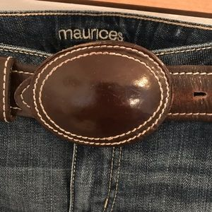 Vintage Leather Belt Western Style Very Chic